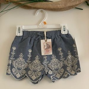 Jessica Simpson girls denim embroidered shorts